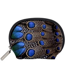 Feathers Peacock Light Accessory Pouches (small)  by Jojostore