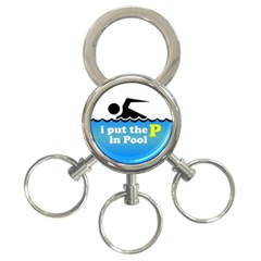 Funny Swiming Water 3 Ring Key Chains