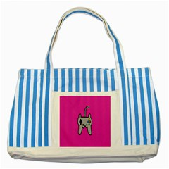 Game Pink Striped Blue Tote Bag by Jojostore
