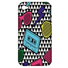 Glasses Cassette Apple Iphone 4/4s Hardshell Case (pc+silicone)