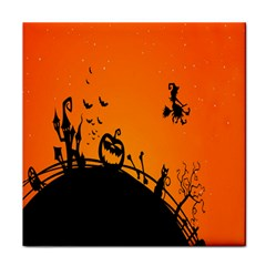 Halloween Day Tile Coasters by Jojostore