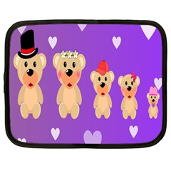 Happy Bears Cute Netbook Case (large) by Jojostore