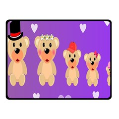 Happy Bears Cute Fleece Blanket (small)