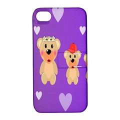 Happy Bears Cute Apple Iphone 4/4s Hardshell Case With Stand by Jojostore