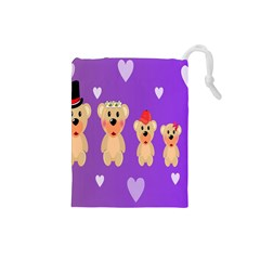 Happy Bears Cute Drawstring Pouches (small)