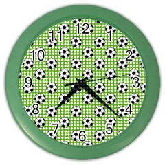 Green Ball Color Wall Clocks by Jojostore