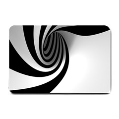 Hole Black White Small Doormat  by Jojostore