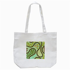 Hilly Roads Tote Bag (white)