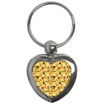 Halloween Pattern Key Chains (Heart)  Front