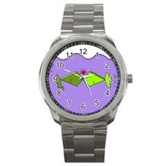 Kissing Fish Sport Metal Watch by Jojostore