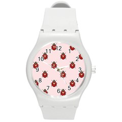 Insect Animals Cute Round Plastic Sport Watch (m)