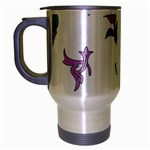 Leaf Travel Mug (Silver Gray) Left