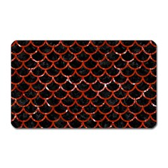 Scales1 Black Marble & Red Marble Magnet (rectangular) by trendistuff