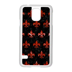 Royal1 Black Marble & Red Marble (r) Samsung Galaxy S5 Case (white) by trendistuff