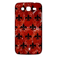 Royal1 Black Marble & Red Marble Samsung Galaxy Mega 5 8 I9152 Hardshell Case  by trendistuff