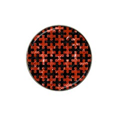 Puzzle1 Black Marble & Red Marble Hat Clip Ball Marker by trendistuff