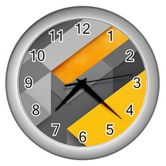 Marshmallow Yellow Wall Clocks (silver)  by Jojostore