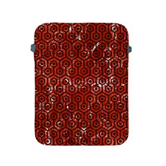 Hexagon1 Black Marble & Red Marble (r) Apple Ipad 2/3/4 Protective Soft Case by trendistuff