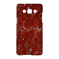 Hexagon1 Black Marble & Red Marble (r) Samsung Galaxy A5 Hardshell Case  by trendistuff