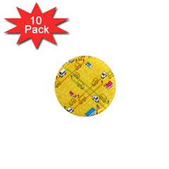 Highway Town 1  Mini Magnet (10 Pack)