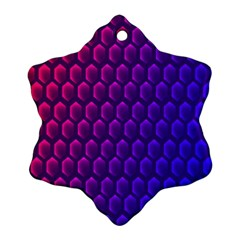 Outstanding Hexagon Blue Purple Ornament (snowflake)