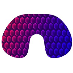 Outstanding Hexagon Blue Purple Travel Neck Pillows by Jojostore