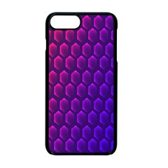Outstanding Hexagon Blue Purple Apple Iphone 7 Plus Seamless Case (black)
