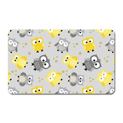 Owl Bird Yellow Animals Magnet (rectangular)