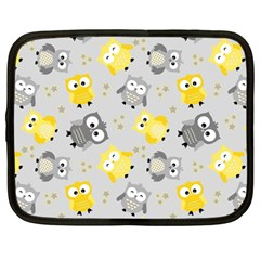 Owl Bird Yellow Animals Netbook Case (large) by Jojostore