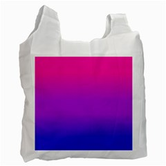 Pink Purple Blue Recycle Bag (two Side)  by Jojostore