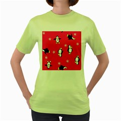Penguin Women s Green T Shirt by Jojostore