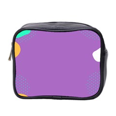 Purple Mini Toiletries Bag 2 Side