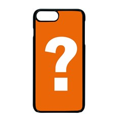 Question Mark Apple Iphone 7 Plus Seamless Case (black) by Jojostore