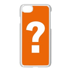 Question Mark Apple Iphone 7 Seamless Case (white)