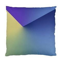 Purple Yellow Standard Cushion Case (two Sides)