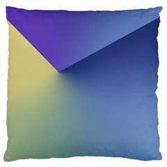 Purple Yellow Standard Flano Cushion Case (two Sides) by Jojostore