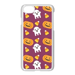 Pumpkin Ghost Canddy Helloween Apple Iphone 7 Seamless Case (white)