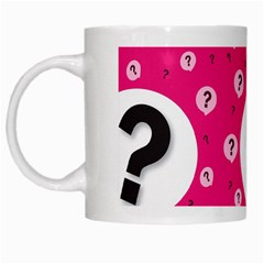 Question Mark Red Sign White Mugs by Jojostore