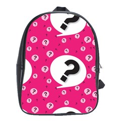 Question Mark Red Sign School Bags(large)