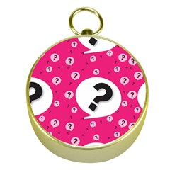 Question Mark Red Sign Gold Compasses