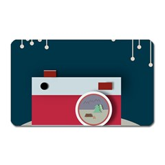Camera Vector Illustration Magnet (rectangular) by Amaryn4rt