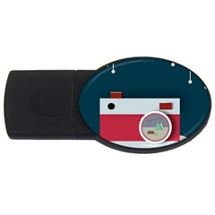 Camera Vector Illustration Usb Flash Drive Oval (2 Gb)
