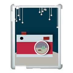 Camera Vector Illustration Apple Ipad 3/4 Case (white) by Amaryn4rt