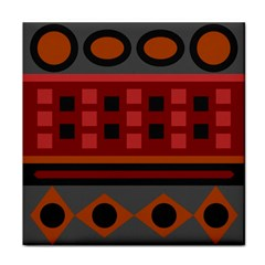 Red Aztec Tile Coasters by Jojostore