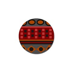 Red Aztec Golf Ball Marker (10 Pack) by Jojostore