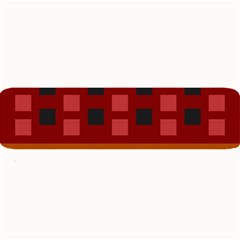 Red Aztec Large Bar Mats by Jojostore
