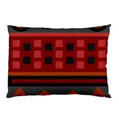 Red Aztec Pillow Case (two Sides) by Jojostore