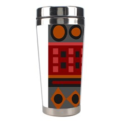 Red Aztec Stainless Steel Travel Tumblers by Jojostore