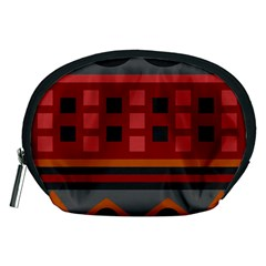 Red Aztec Accessory Pouches (medium)