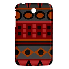 Red Aztec Samsung Galaxy Tab 3 (7 ) P3200 Hardshell Case
